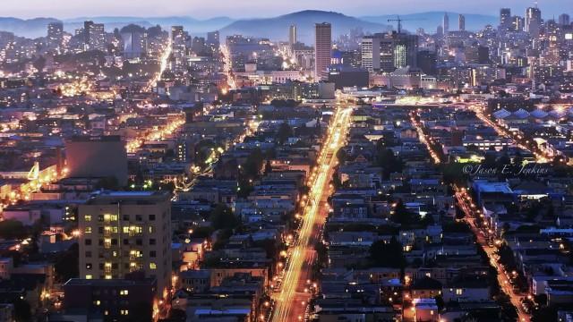 San Francisco in der Dämmerung