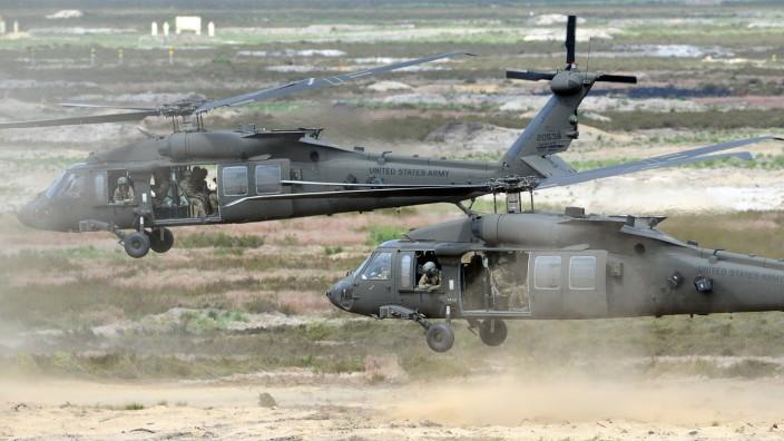 Nato-Treffen in Brüssel: US-Hubschrauber bei einer Nato-Übung in Polen.