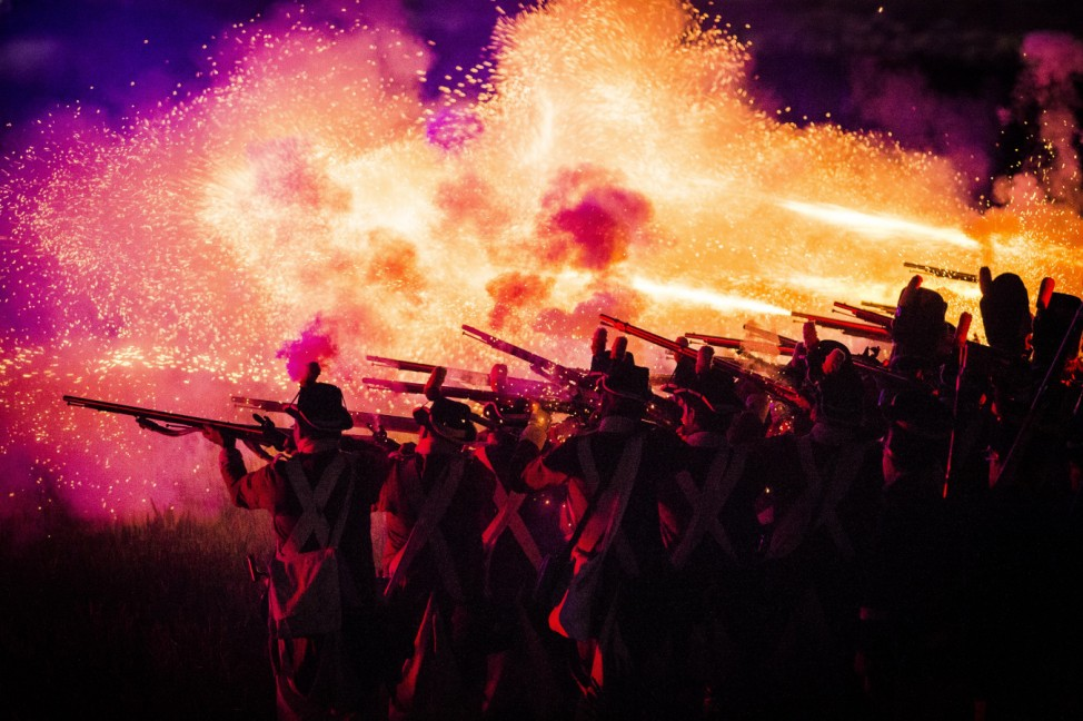 WATERLOO BELGIUM Illustration picture shows Inferno the opening show for the commemoration of