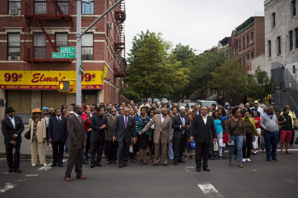 Mourners In Harlem Hold Prayer Service And Vigil For Victims Of Charleston Church Shooting