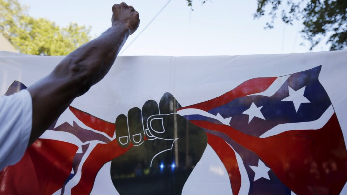 Demonstrators take part in the 'March for Black Lives' in Charleston