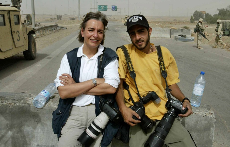 Anja Niedringhaus (links) und Muhammed Muheisen in Falludscha, Irak