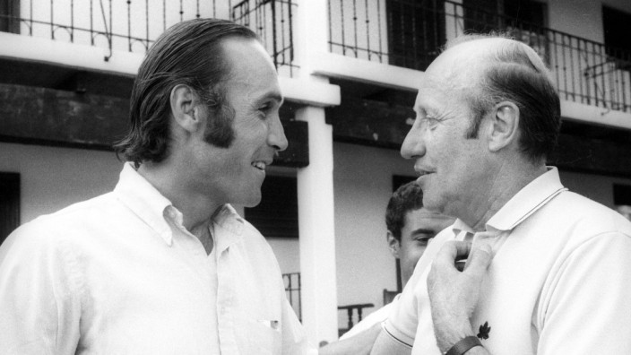 Weltmeisterschaft 1970 Die Trainer Blagoje Vidinic li Marokko und Helmut Schön BR Deutschland