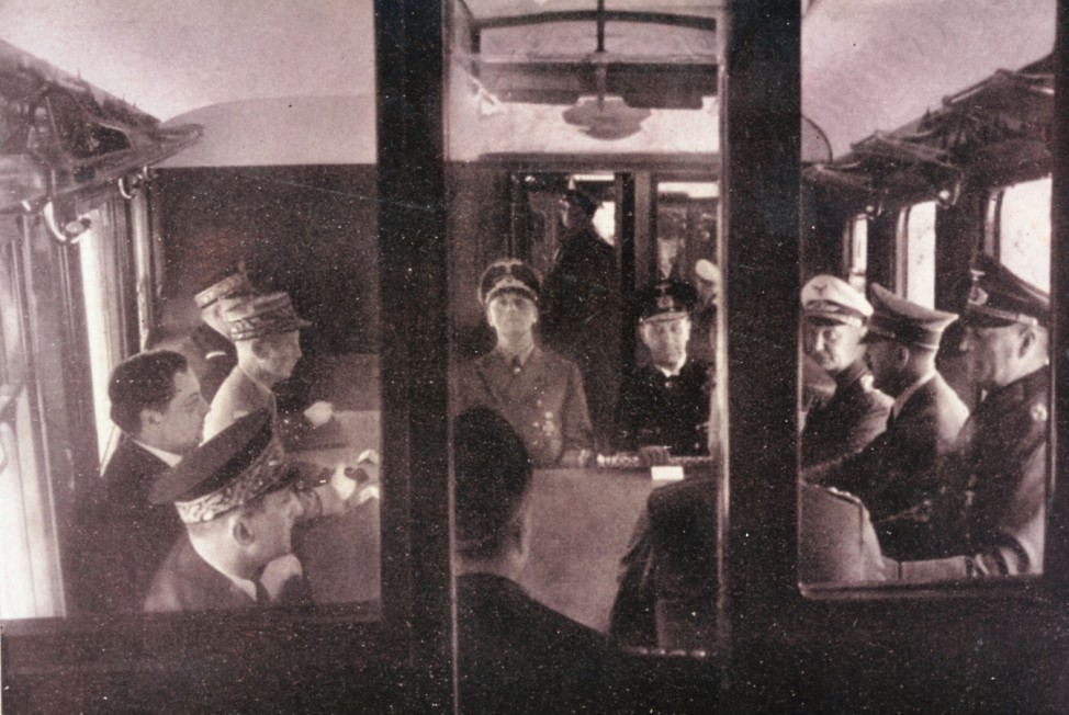 Hitler in Compiegne, 1940