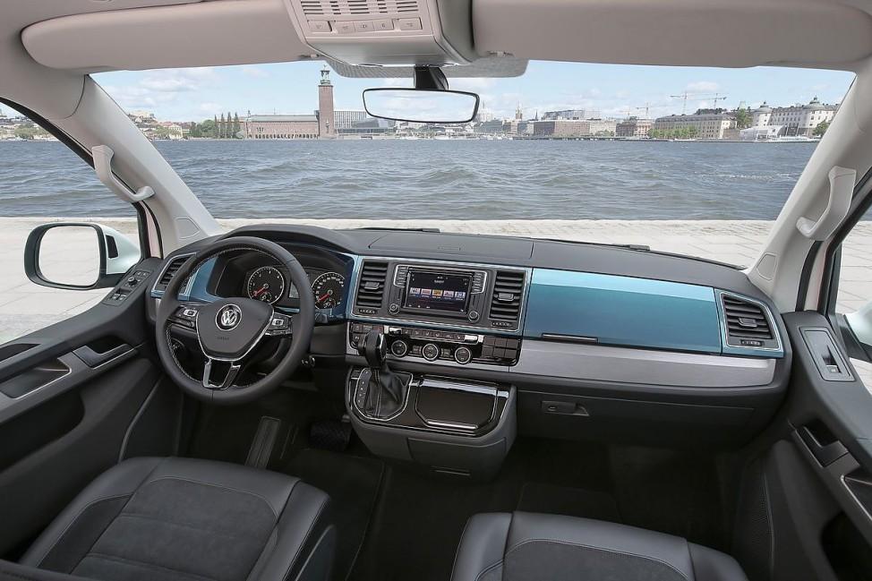 Der Innenraum des VW T6 Multivans.