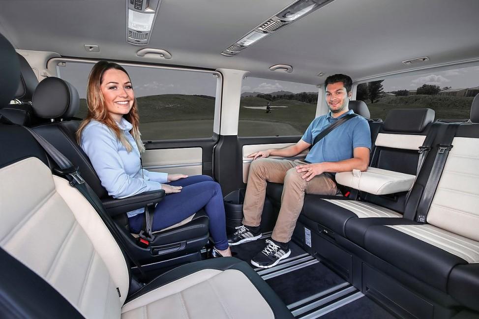 Der Innenraum des neuen VW T6 Multivans.