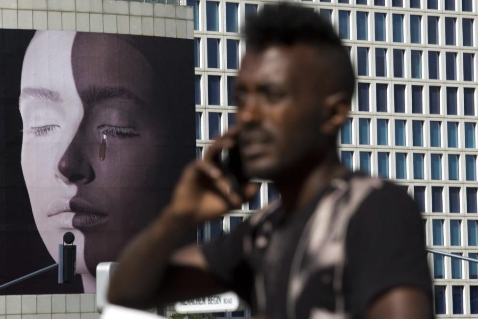 Ethiopian community protest in Tel Aviv