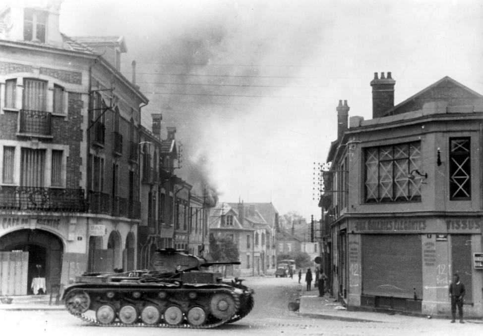 Deutscher Panzer II in Frankreich, 1940