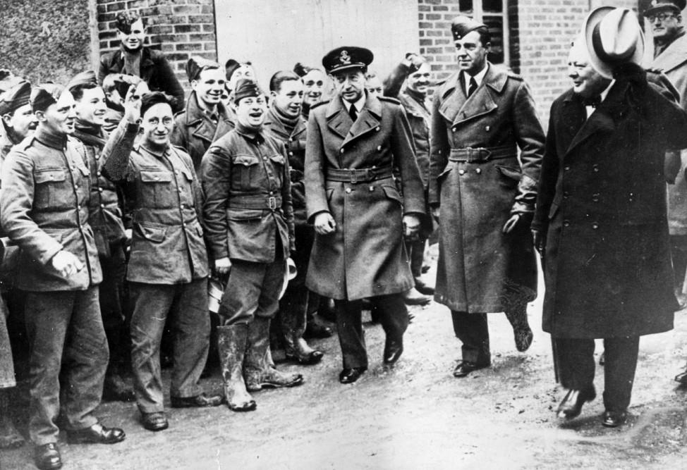 Winston Churchill an der französischen Front, 1940