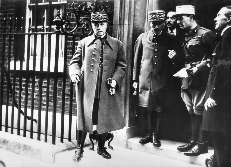 General Maurice Gamelin in London, 1940