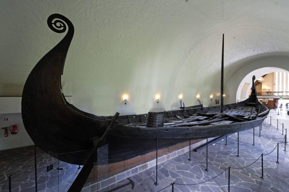 Wikingerschiffshalle Vikingskiphuset, Bygdoy, Oslo, Norwegen