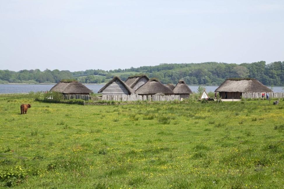 Wikingerhäuser, Haithabu, Schleswig, Schlei, Schleswig-Holstein,