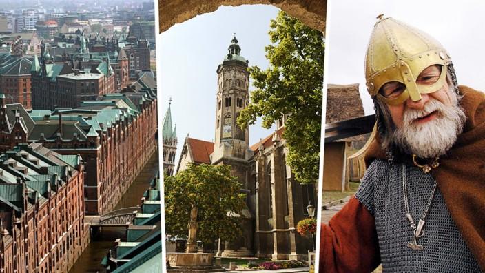 Deutsche Bewerber für Unesco-Weltkulturerbe: Hamburger Speicherstadt, Naumburger Dom und Wikinger-Stätten - das sind die deutschen Bewerber fürs Welterbe.