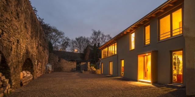 Wohnhaus Happel, Wuerzburg, Claus Arnold Architekten BDA, Wuerzburg; Architektouren 2015 - Projekt 249, Massivholzhaus an der Stadtmauer, Würzburg