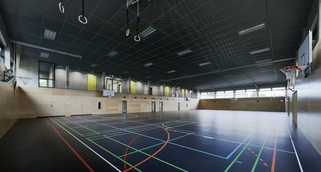 Neubau einer Mehrfachturnhalle in Essenbach; Architektouren 2015 - Projekt 145, Neubau einer Zweifach Sporthalle, Essenbach