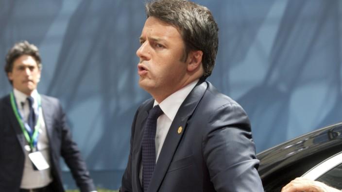 EU-Gipfel: Italiens Premier Renzi in Brüssel