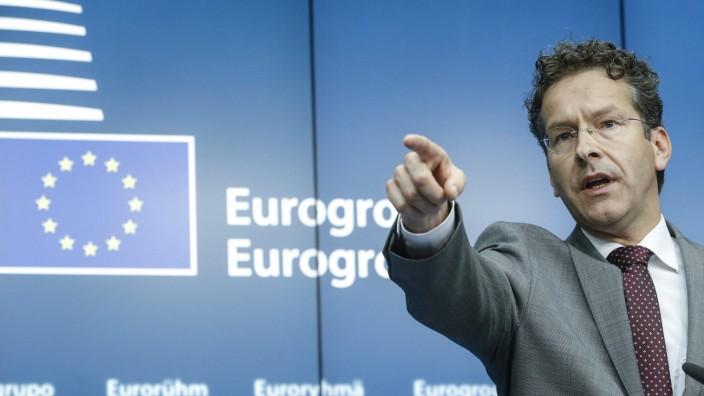 Jeroen Dijsselbloem beim Eurogruppen-Treffen in Brüssel