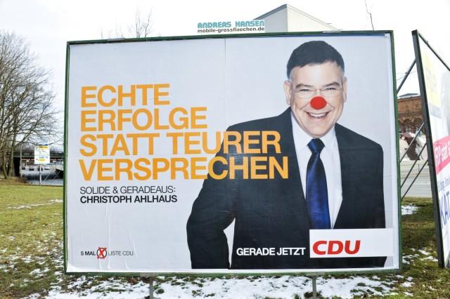 Wahlplakat von Christoph Ahlhaus in Hamburg, 2011