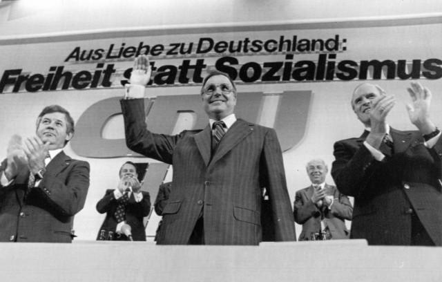 Kurt Biedenkopf, Helmut Kohl und Karl Carstens, 1976