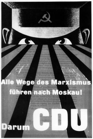 Wahlplakat der CDU im Bundestagswahlkampf 1953