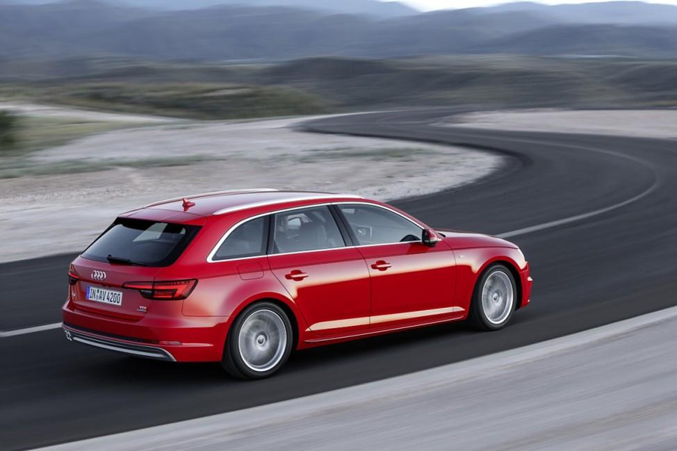 Das Heck des Audi A4 Avant 2015