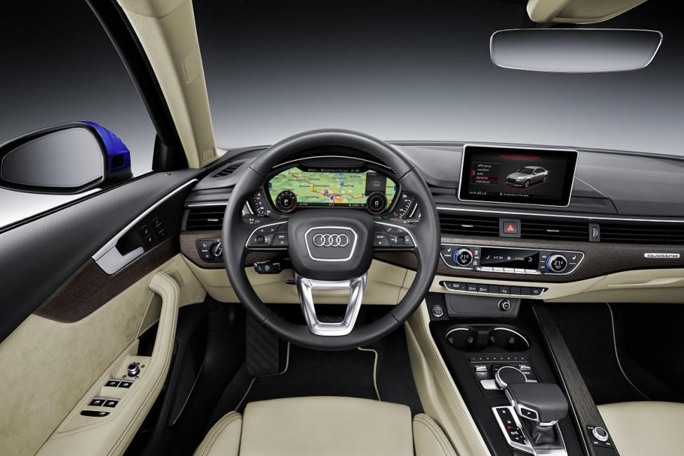 Das Steuer des Audi A4