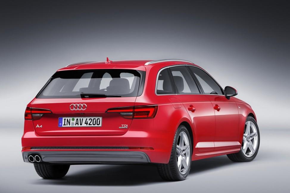 Das Heck des Audi A4 Avant