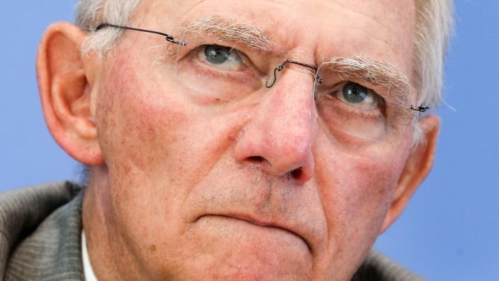 Schäuble zu Haushaltsentwurf