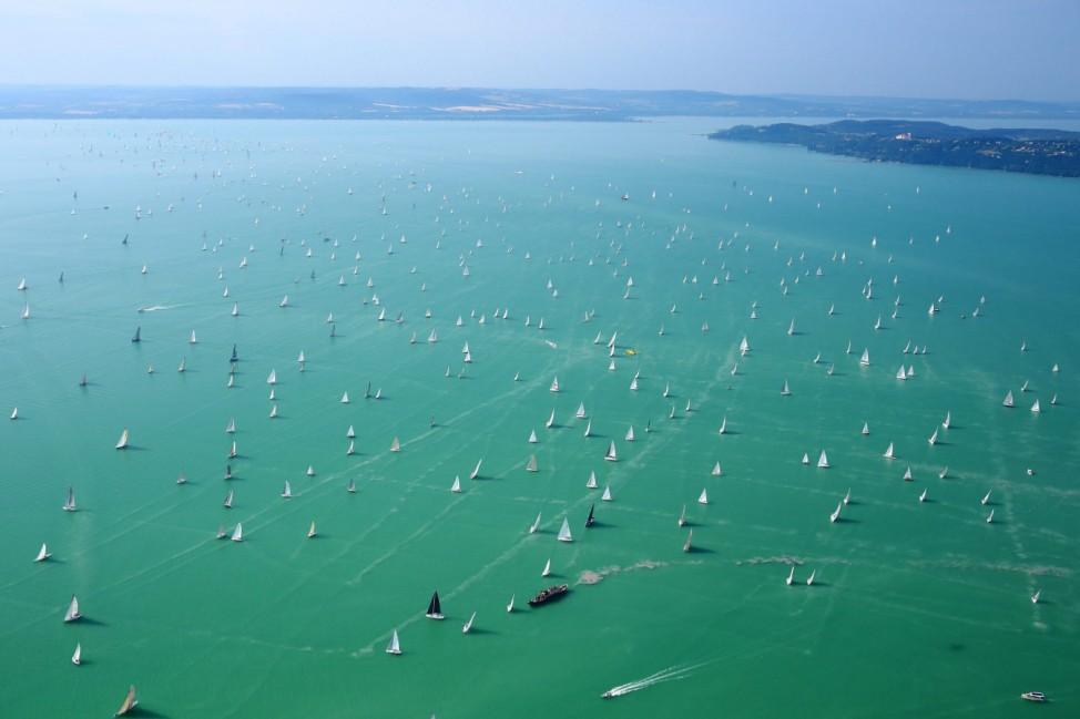 Blue Ribbon yachting race around the Lake Balaton in Hungary