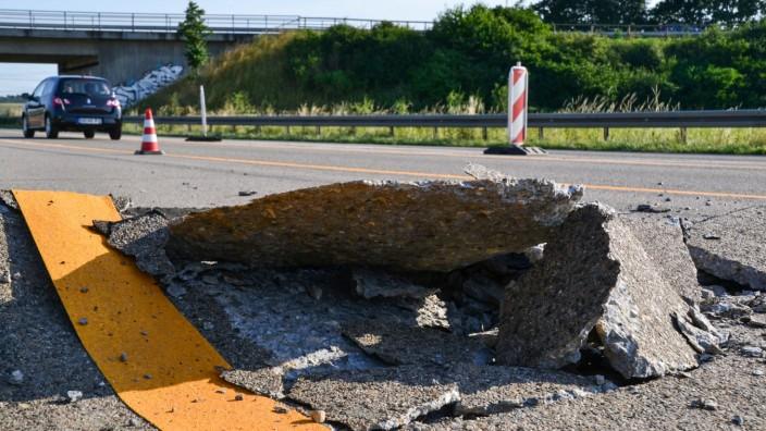 'Blow up' auf der Autobahn A5