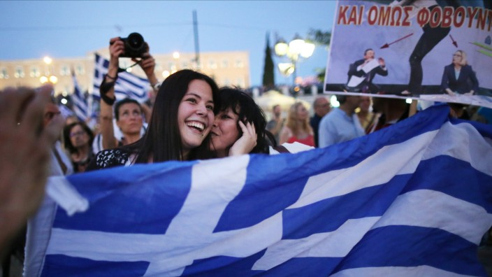 The People Of Greece Vote In A Referendum Over Debt Bailout Terms