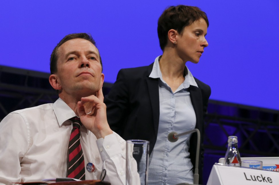 Alternative für Deutschland - AfD-Gründer Bernd Lucke und Rivalin Frauke Petry.