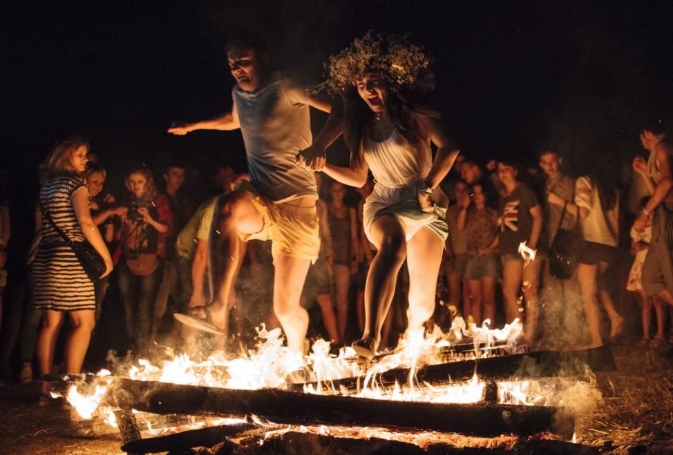 Ukrainians celebrate the traditional pagan holiday Ivana Kupala