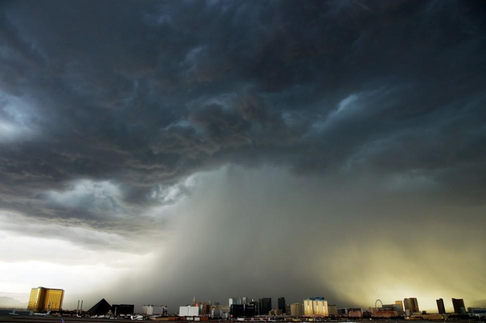 Strong Thunderstorms Hit Las Vegas