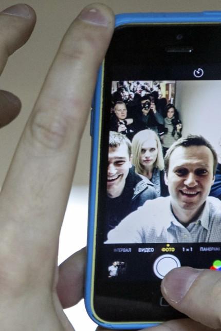 """Anonymer Hacker """"Hell"""" vor Gericht: Der Aktivist Alexej Nawalny brachte den Prozess ins Rollen."""