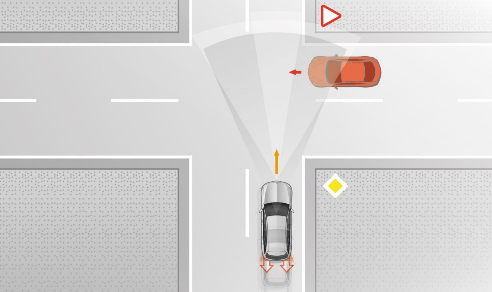 Mercedes E-Klasse 2016: aktiver Bremsassistent mit Kreuzungsfunktion