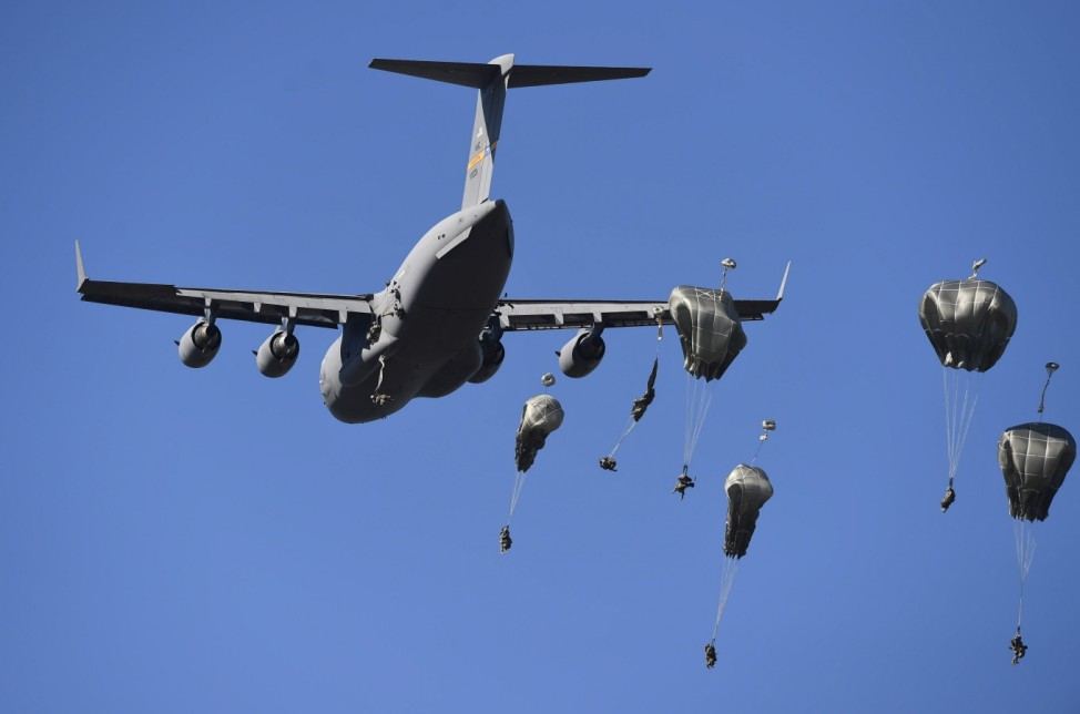 US Military Conducts Paratrooper Drop During Exercise Talisman Sabre