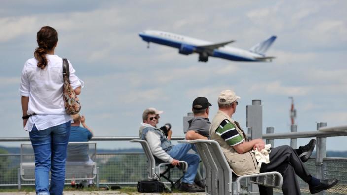 Flughafen-Touristen in München
