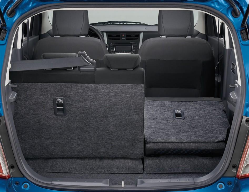 Der Kofferraum des Suzuki Celerio.