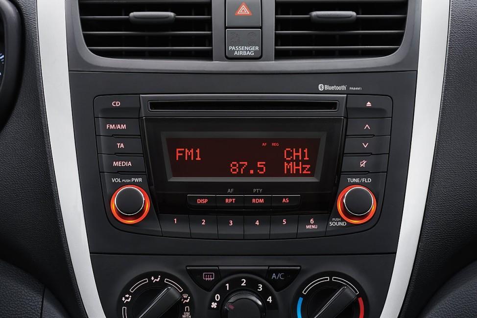 Das Infotainmentsystem des Suzuki Celerio.