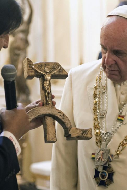 Francis, Evo Morales