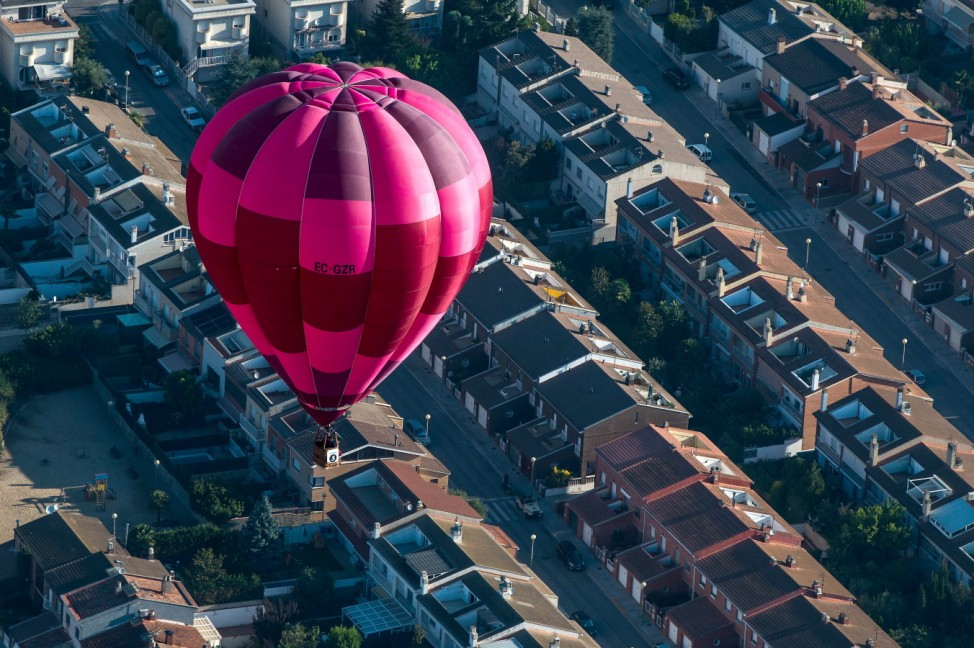Hot Air Balloons Take To The Skies For The European Balloon Festival