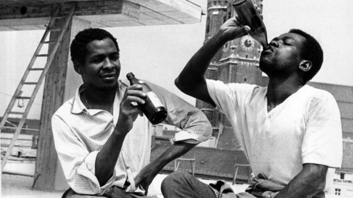 Afrikanische Arbeiter in München, 1967