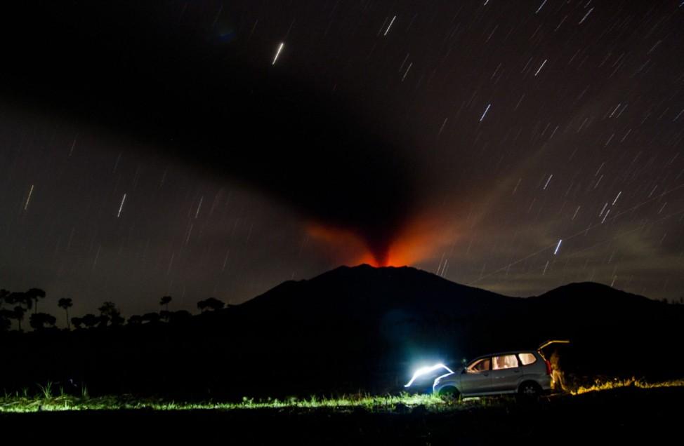 Mount Raung Eruption