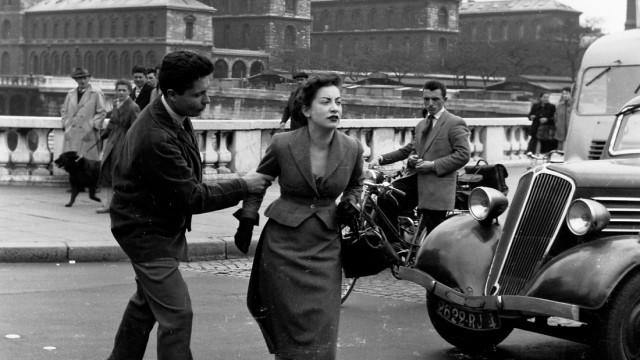 Ein streitendes Paar in Paris, 1954
