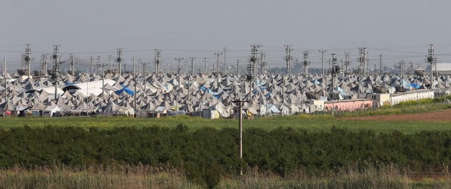 Syrisches Flüchtlingslager in der Türkei