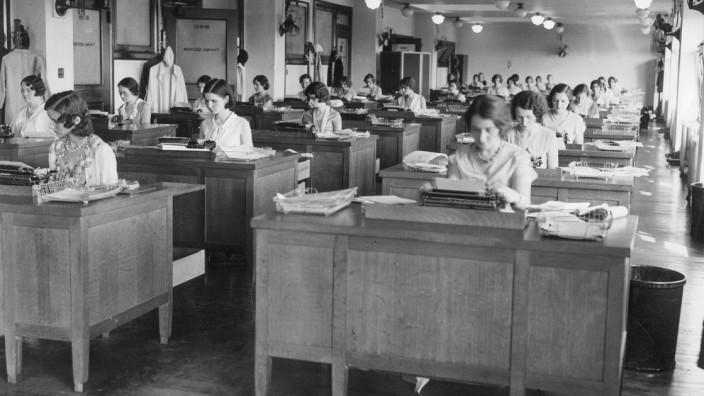 Amerikanisches Großraumbüro, 1931