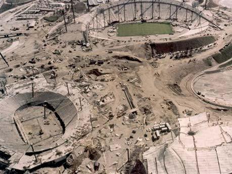 Bauarbeiten Olympiagelände