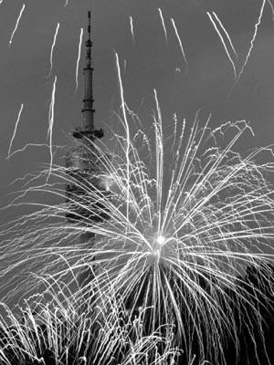 Feuerwerk: Olympiapark ist 25