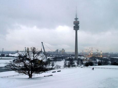 Olympiapark im Winter